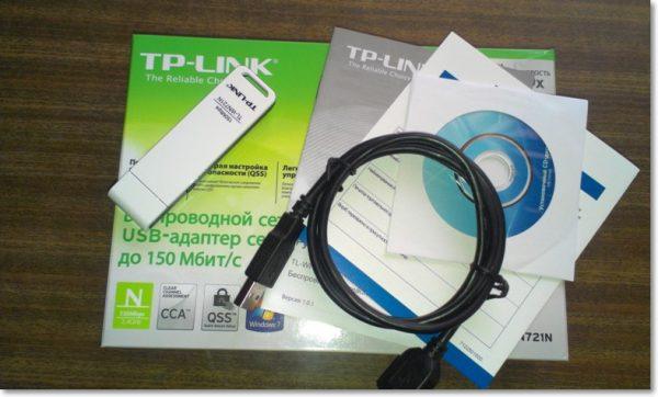 Комплектация Wi-Fi адаптера TP-Link TL-WN721N